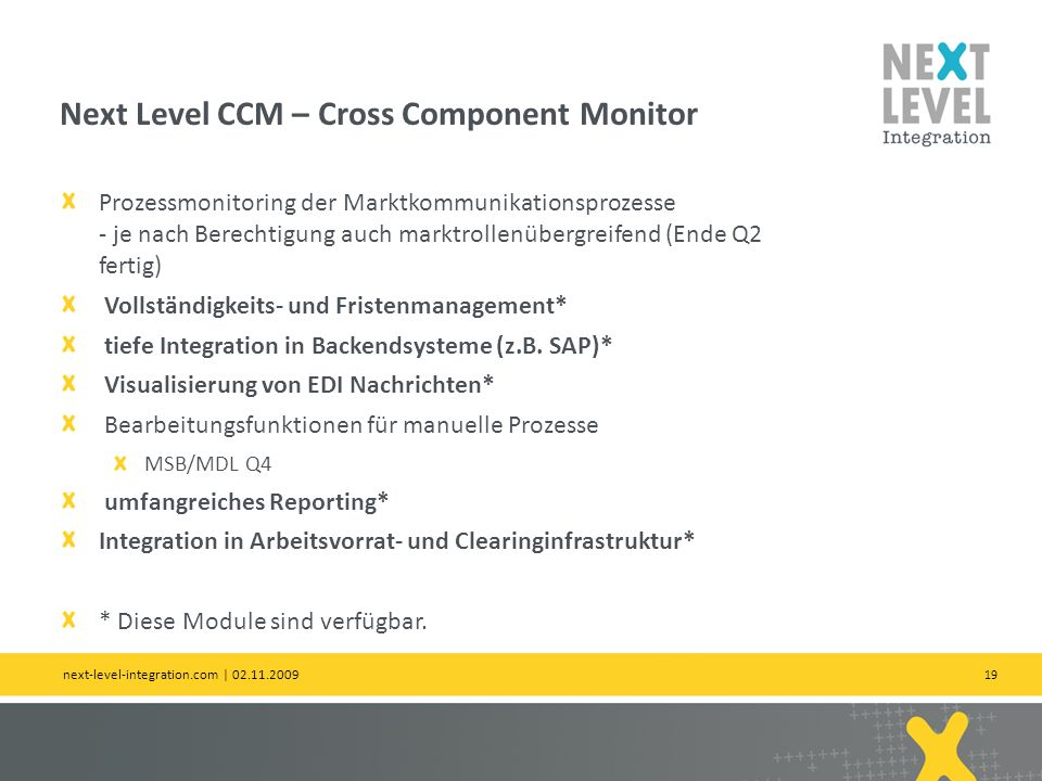 Next Level CCM – Cross Component Monitor