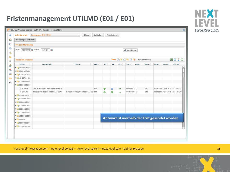 Fristenmanagement UTILMD (E01 / E01)