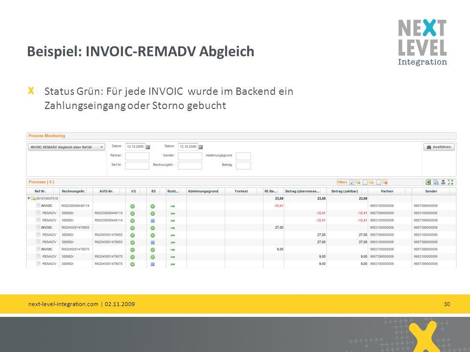 Beispiel: INVOIC-REMADV Abgleich