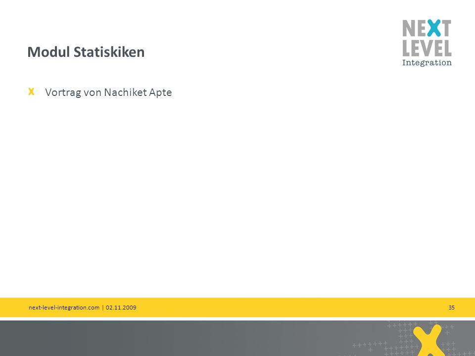 Modul Statiskiken Vortrag von Nachiket Apte