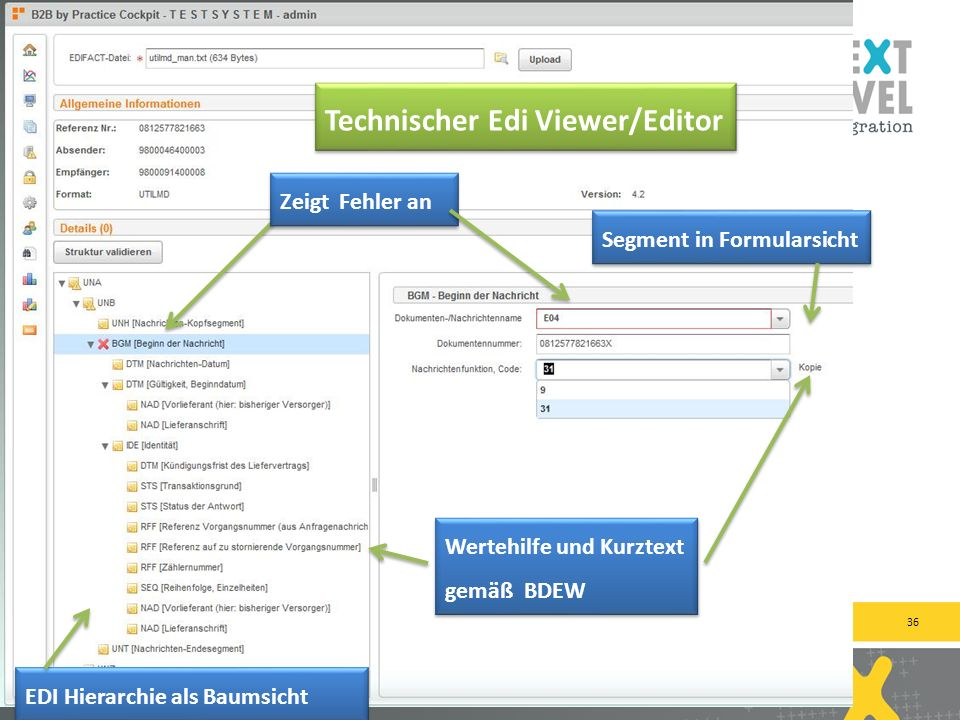Technischer Edi Viewer/Editor