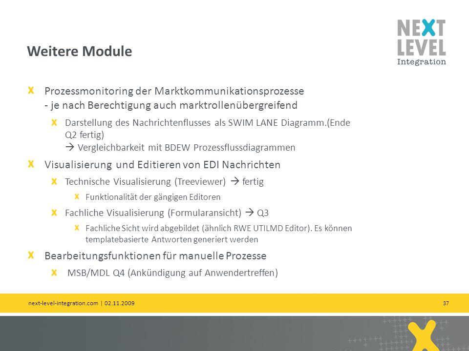 Weitere Module Prozessmonitoring der Marktkommunikationsprozesse - je nach Berechtigung auch marktrollenübergreifend.
