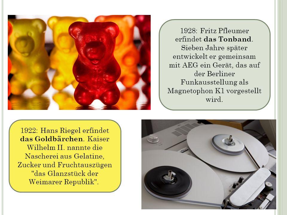 1928: Fritz Pfleumer erfindet das Tonband