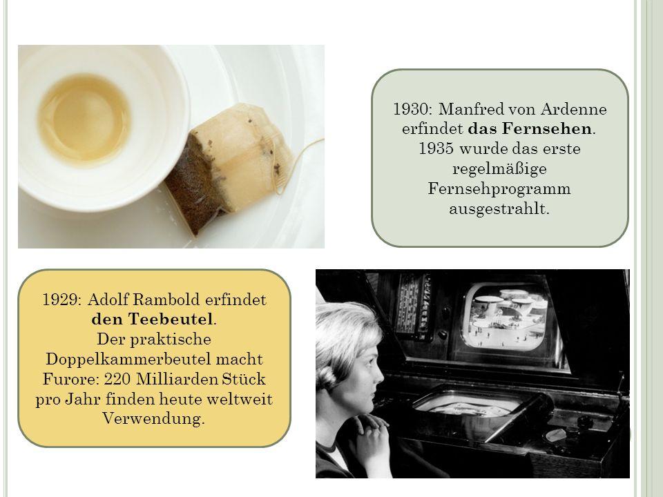 1930: Manfred von Ardenne erfindet das Fernsehen