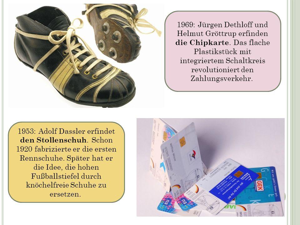 1969: Jürgen Dethloff und Helmut Gröttrup erfinden die Chipkarte