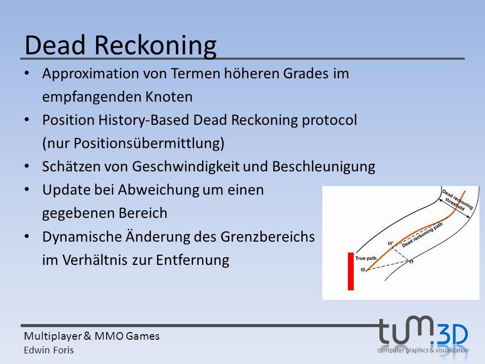 Dead Reckoning Approximation von Termen höheren Grades im