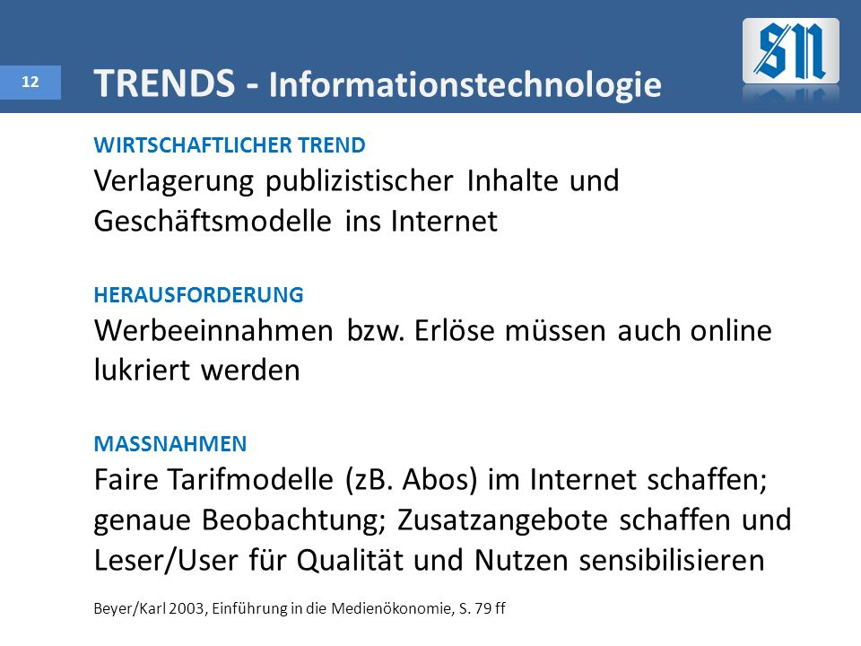 TRENDS - Informationstechnologie