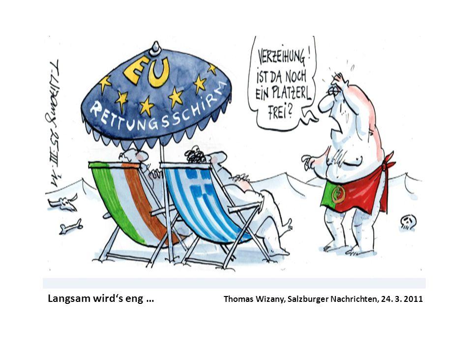 Langsam wird's eng …. Thomas Wizany, Salzburger Nachrichten, 24. 3