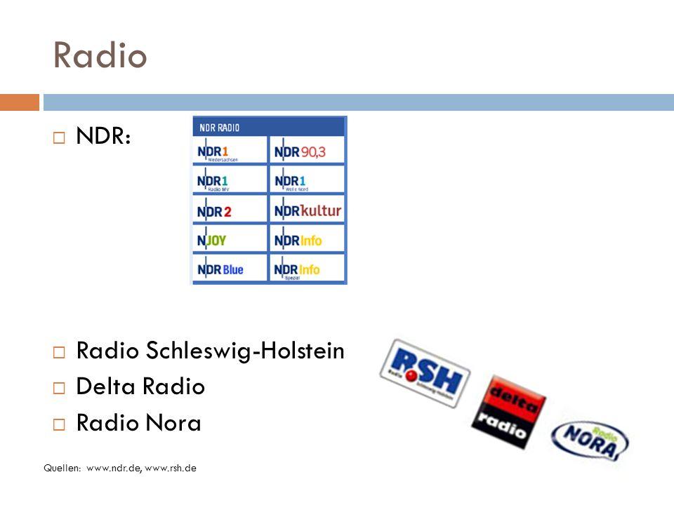 Radio NDR: Radio Schleswig-Holstein Delta Radio Radio Nora