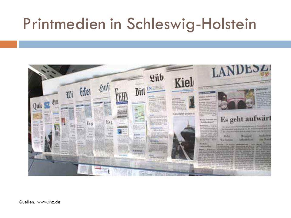 Printmedien in Schleswig-Holstein