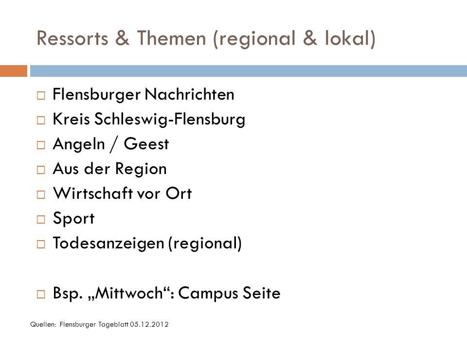 Ressorts & Themen (regional & lokal)