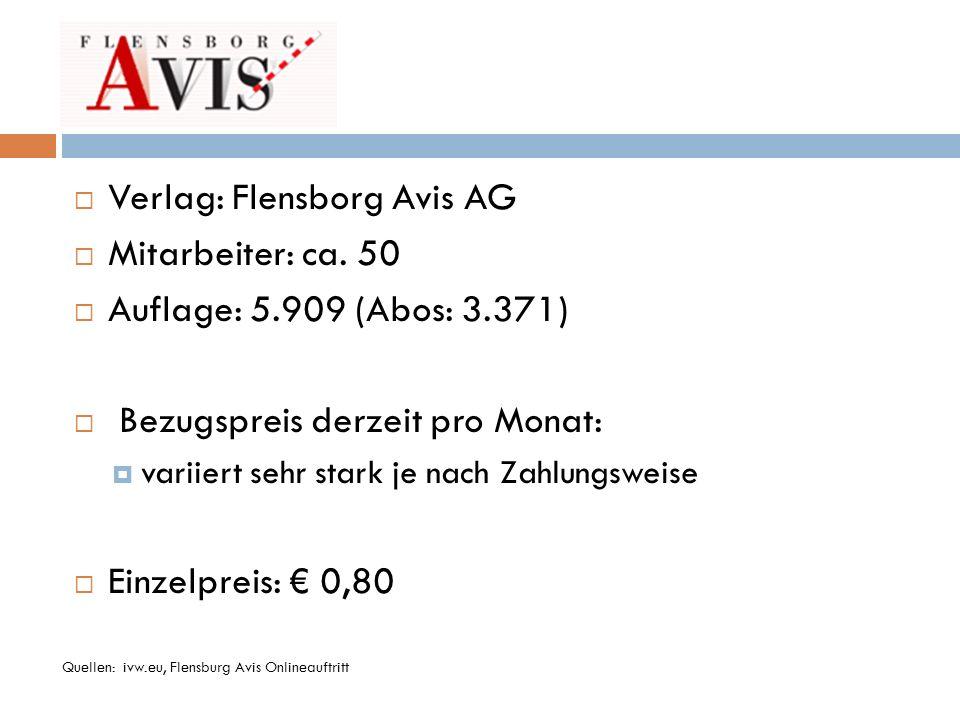 Verlag: Flensborg Avis AG Mitarbeiter: ca. 50