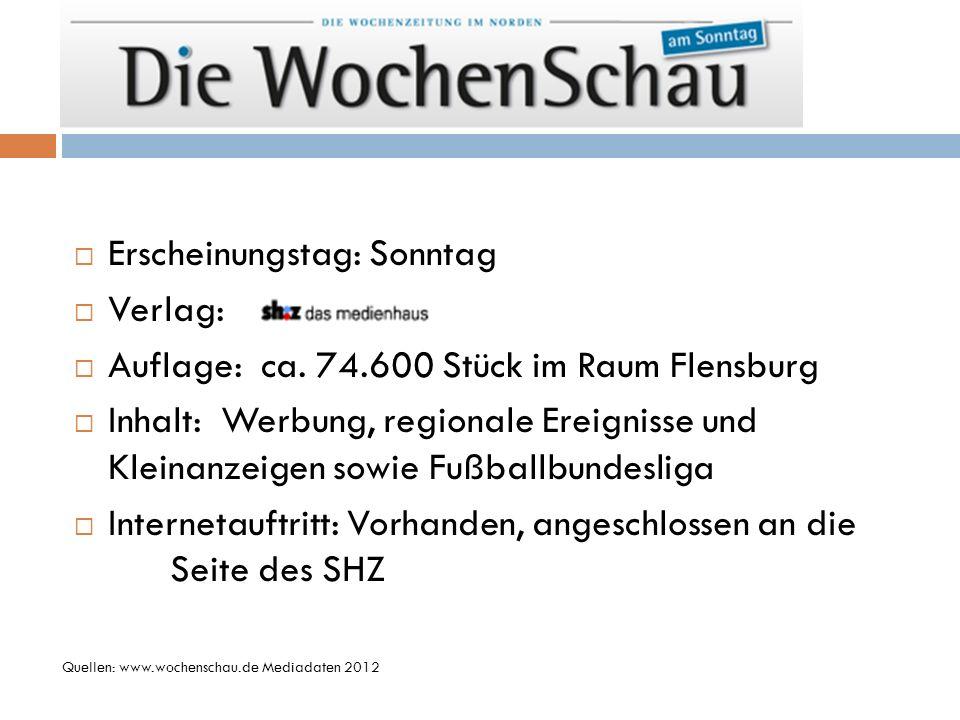 Erscheinungstag: Sonntag Verlag: