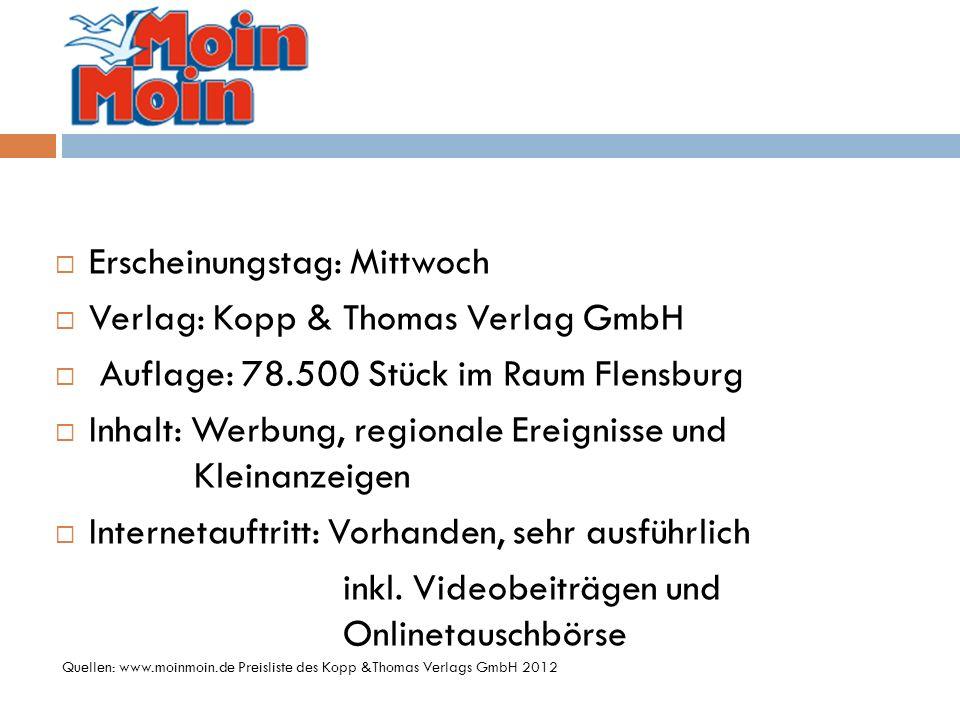 Erscheinungstag: Mittwoch Verlag: Kopp & Thomas Verlag GmbH