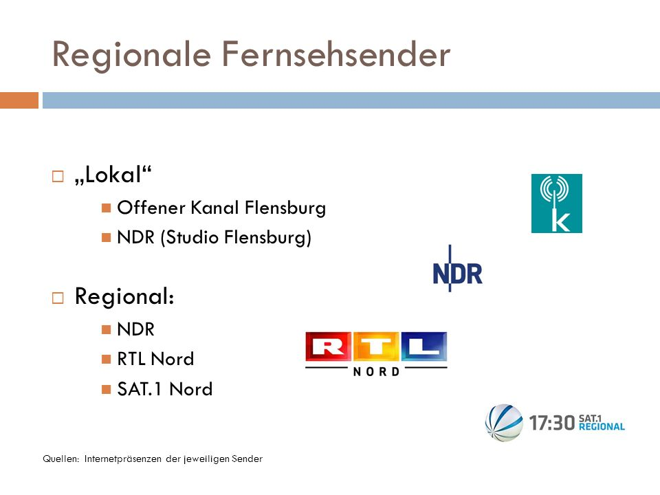 Regionale Fernsehsender