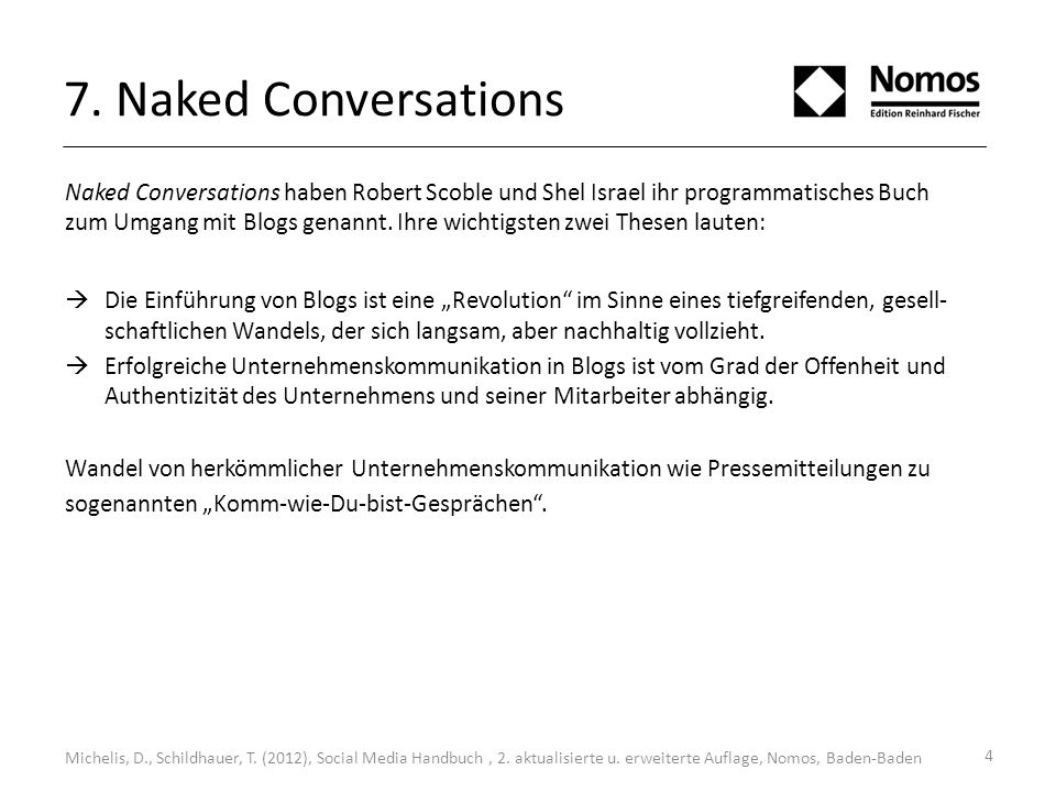 7. Naked Conversations