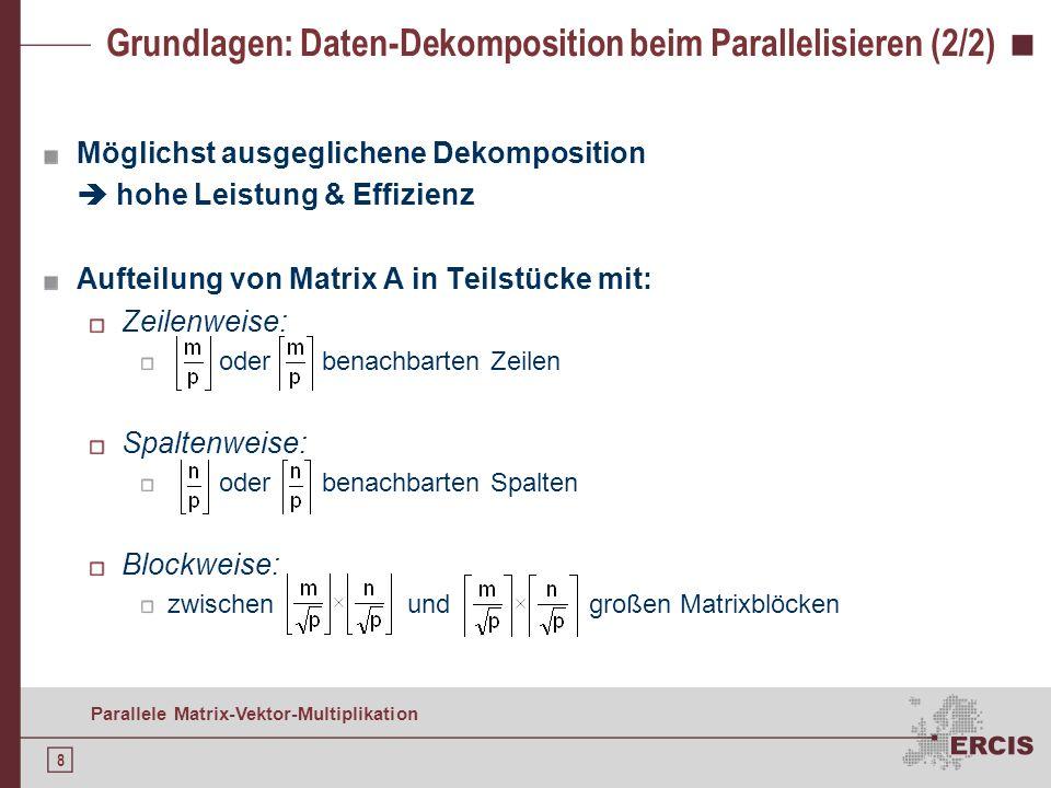 Grundlagen: Daten-Dekomposition beim Parallelisieren (2/2)
