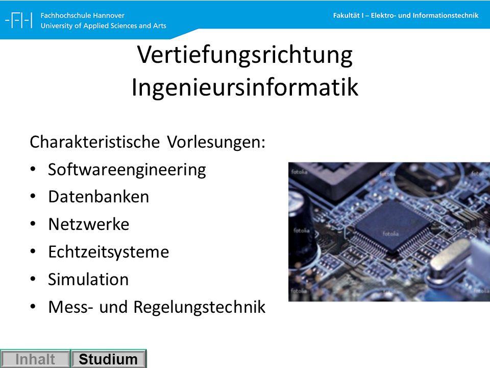 Vertiefungsrichtung Ingenieursinformatik
