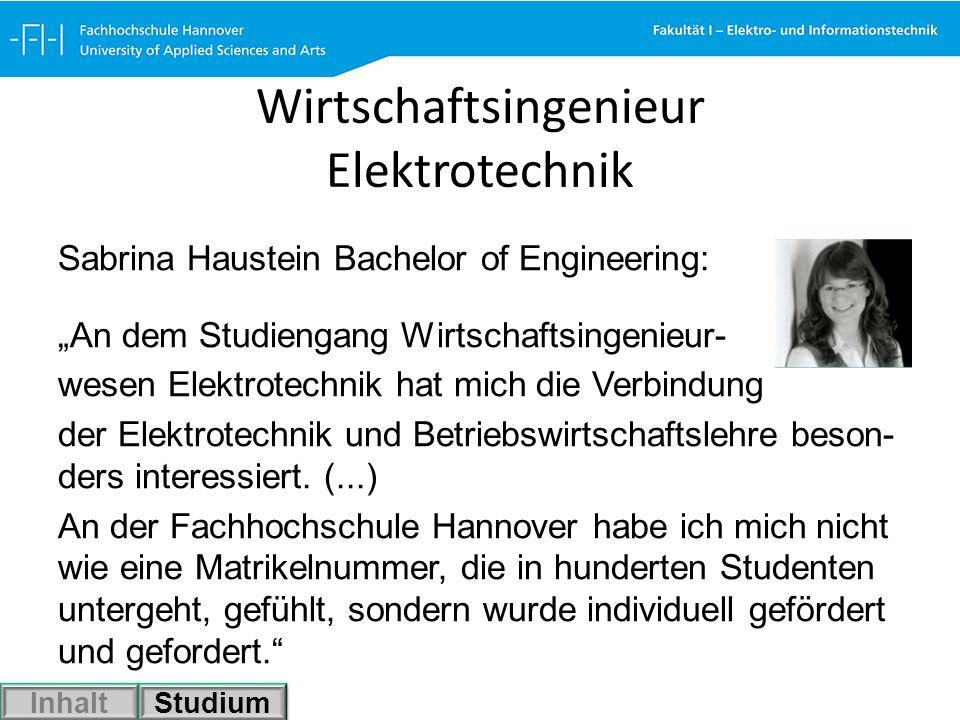 Wirtschaftsingenieur Elektrotechnik
