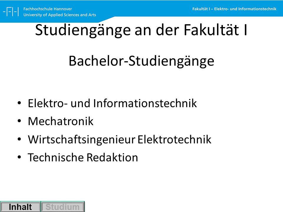Studiengänge an der Fakultät I