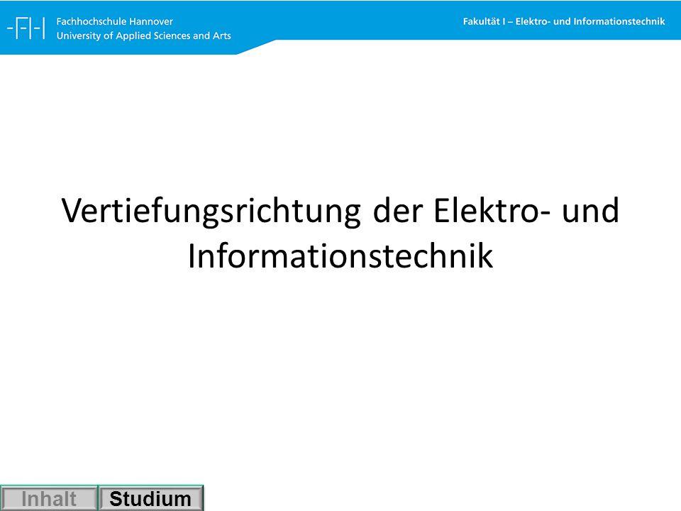 Vertiefungsrichtung der Elektro- und Informationstechnik