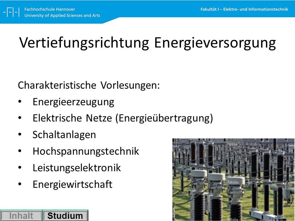 Vertiefungsrichtung Energieversorgung