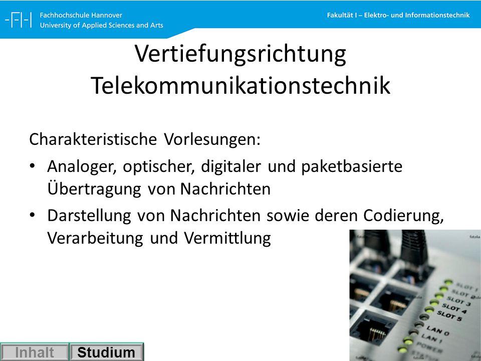 Vertiefungsrichtung Telekommunikationstechnik