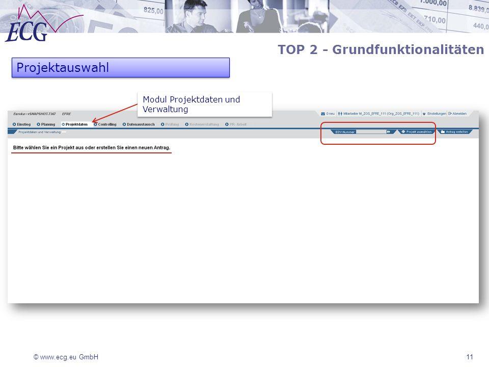 TOP 2 - Grundfunktionalitäten