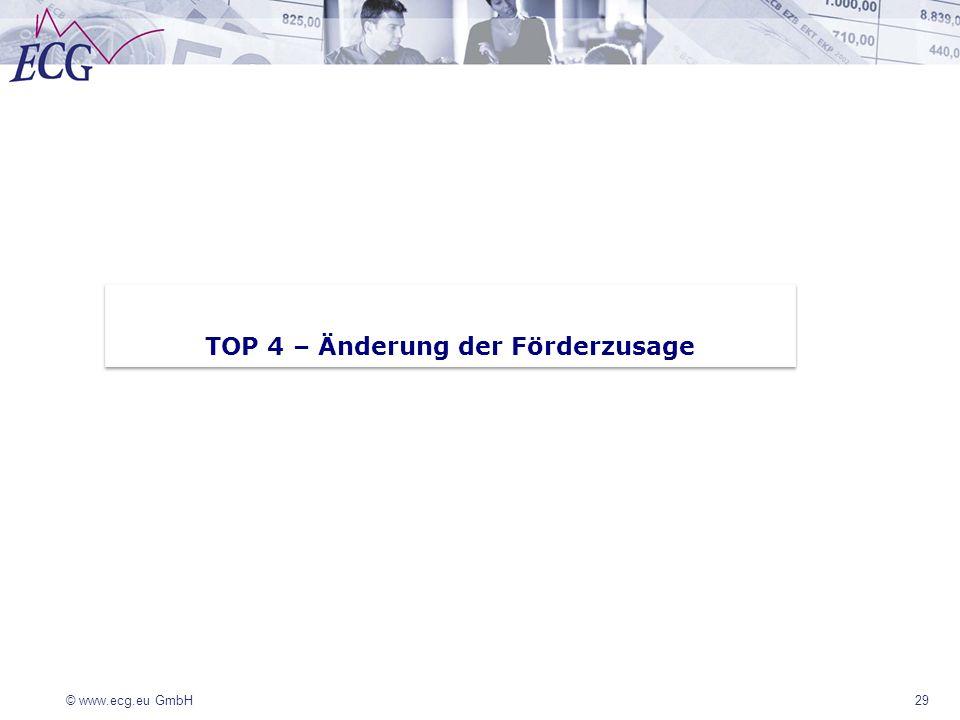 TOP 4 – Änderung der Förderzusage