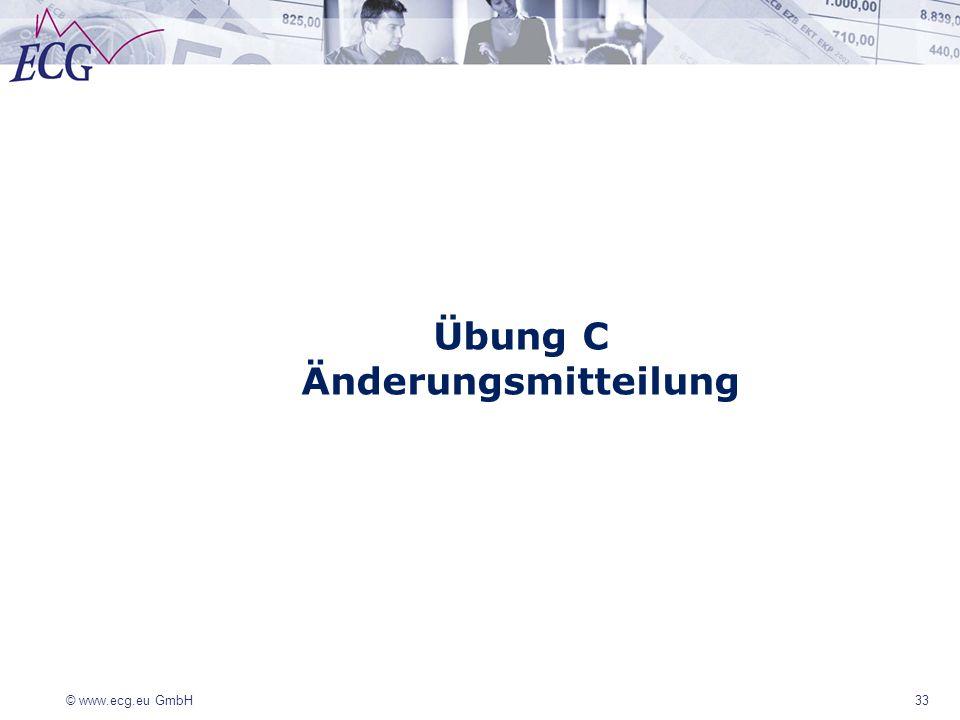 Übung C Änderungsmitteilung