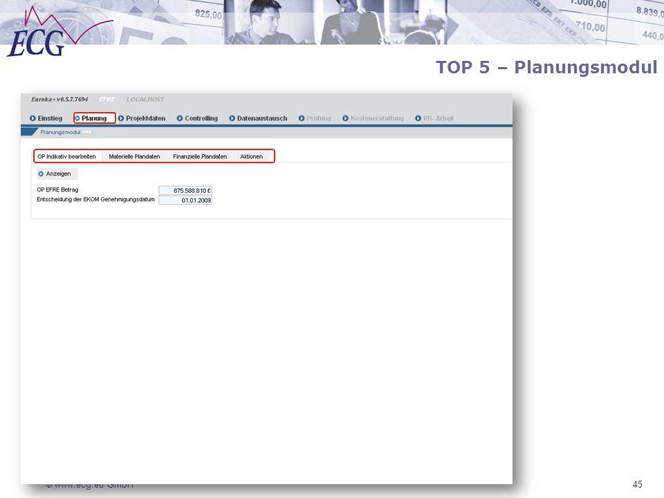TOP 5 – Planungsmodul 45