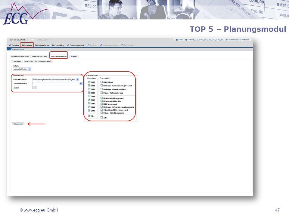 TOP 5 – Planungsmodul 47
