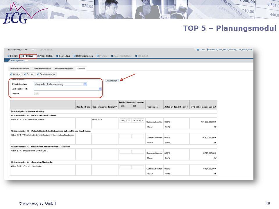 TOP 5 – Planungsmodul 48