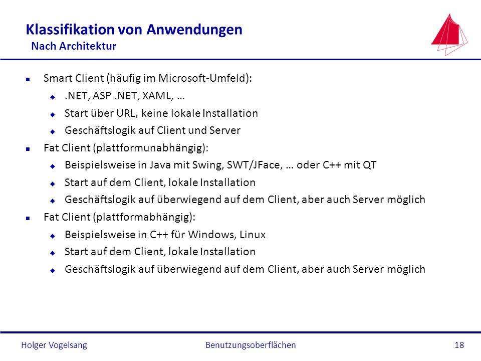 Klassifikation von Anwendungen Nach Architektur