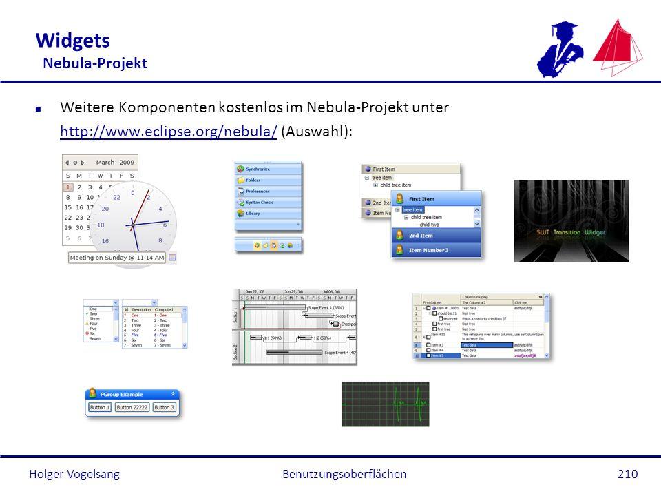 Widgets Nebula-Projekt