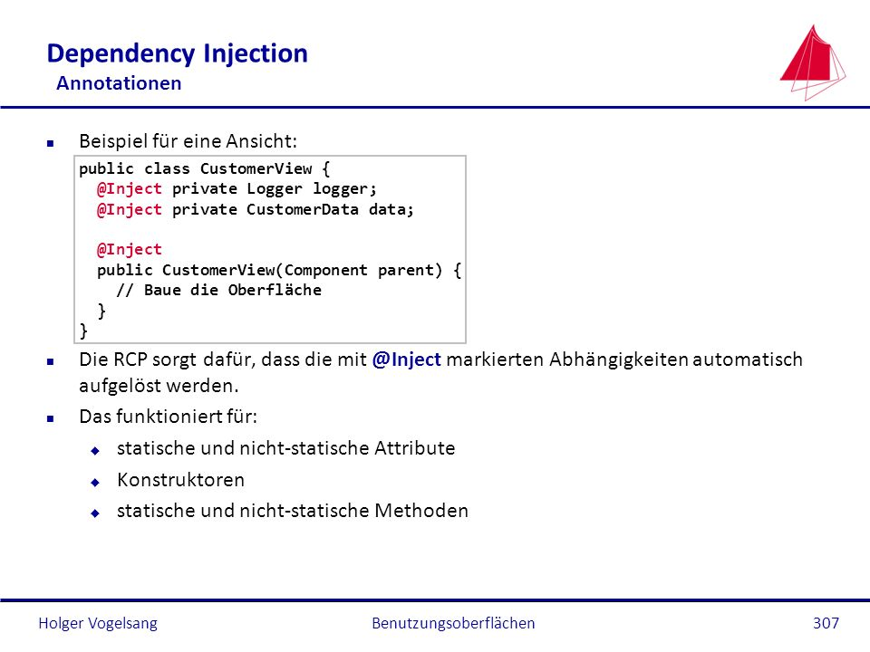 Dependency Injection Annotationen