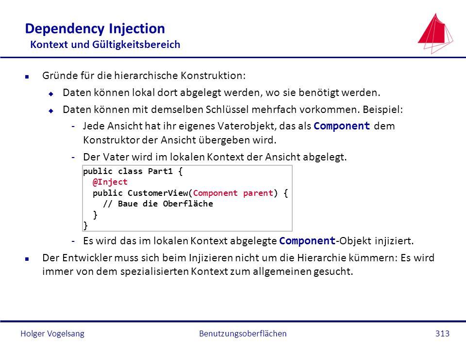 Dependency Injection Kontext und Gültigkeitsbereich