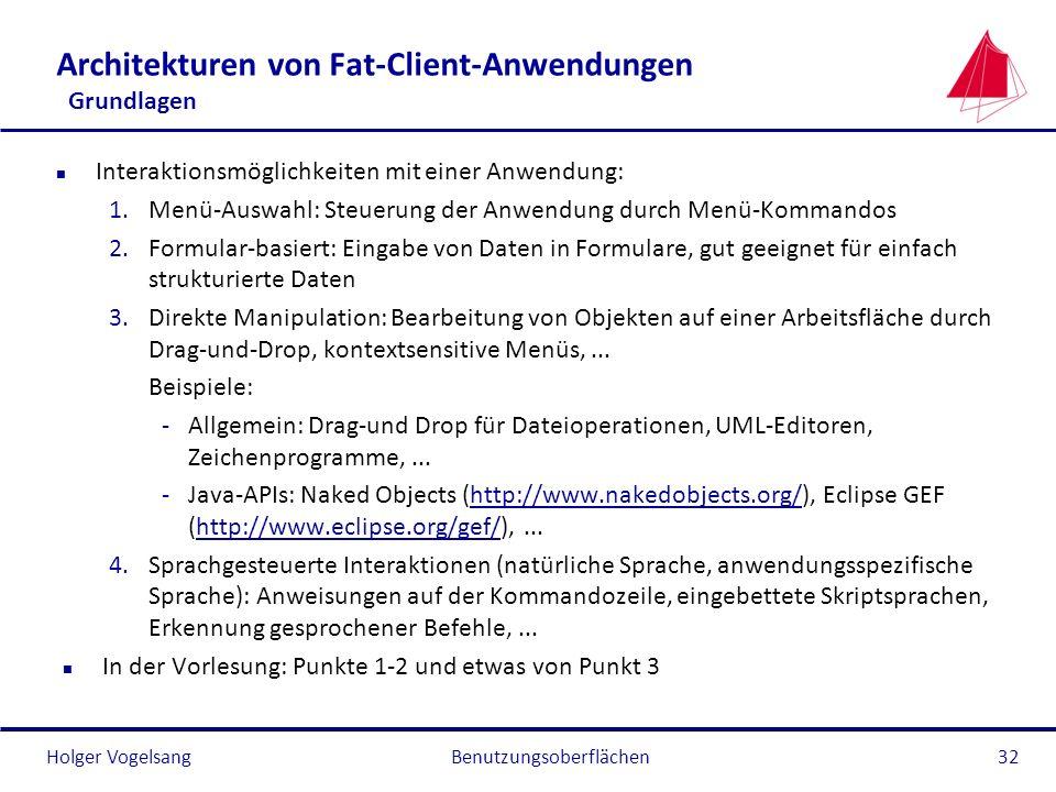 Architekturen von Fat-Client-Anwendungen Grundlagen