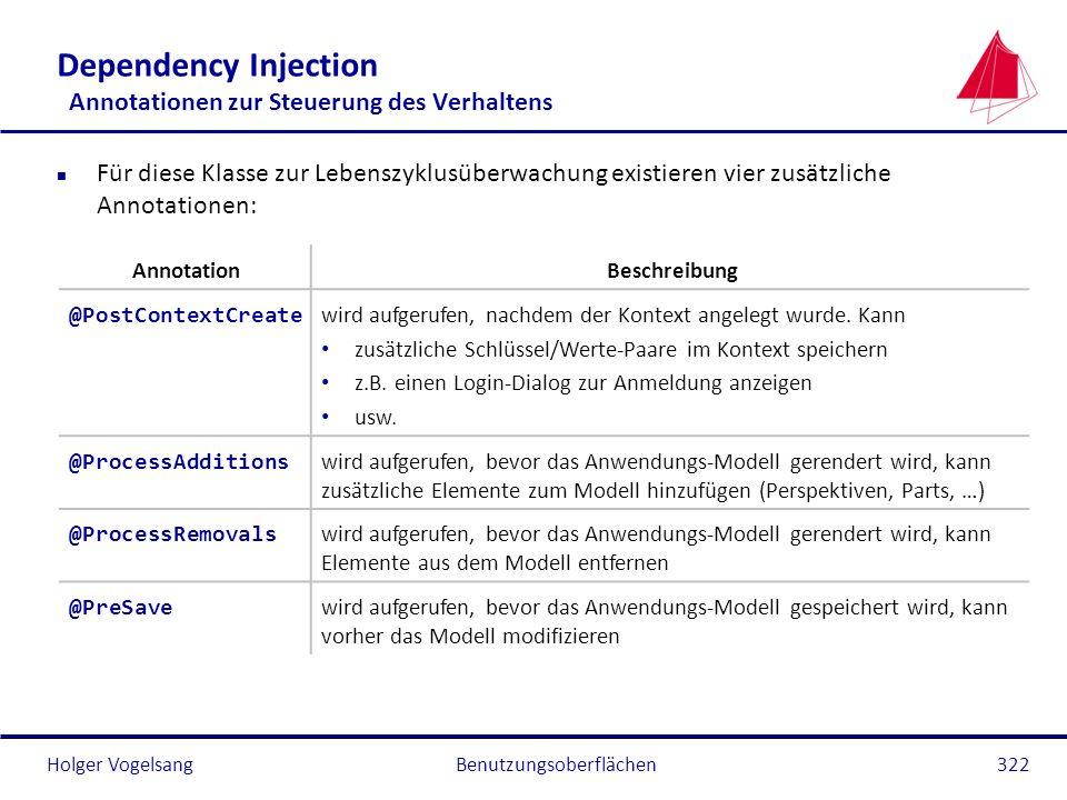 Dependency Injection Annotationen zur Steuerung des Verhaltens