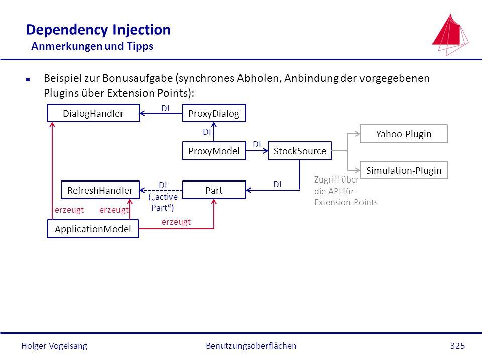 Dependency Injection Anmerkungen und Tipps