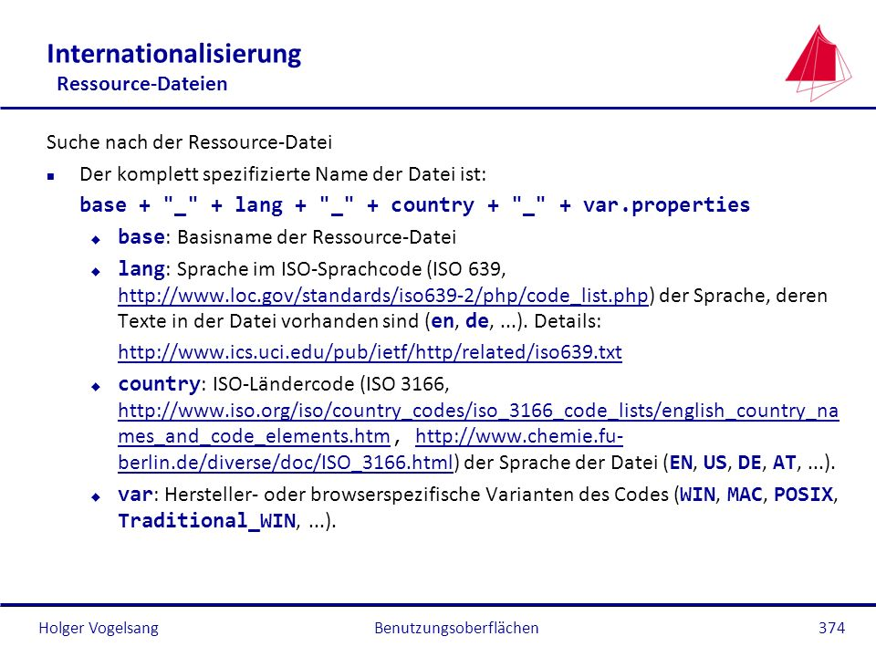 Internationalisierung Ressource-Dateien