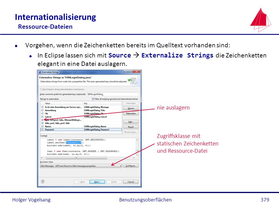 Internationalisierung Ressource-Dateien