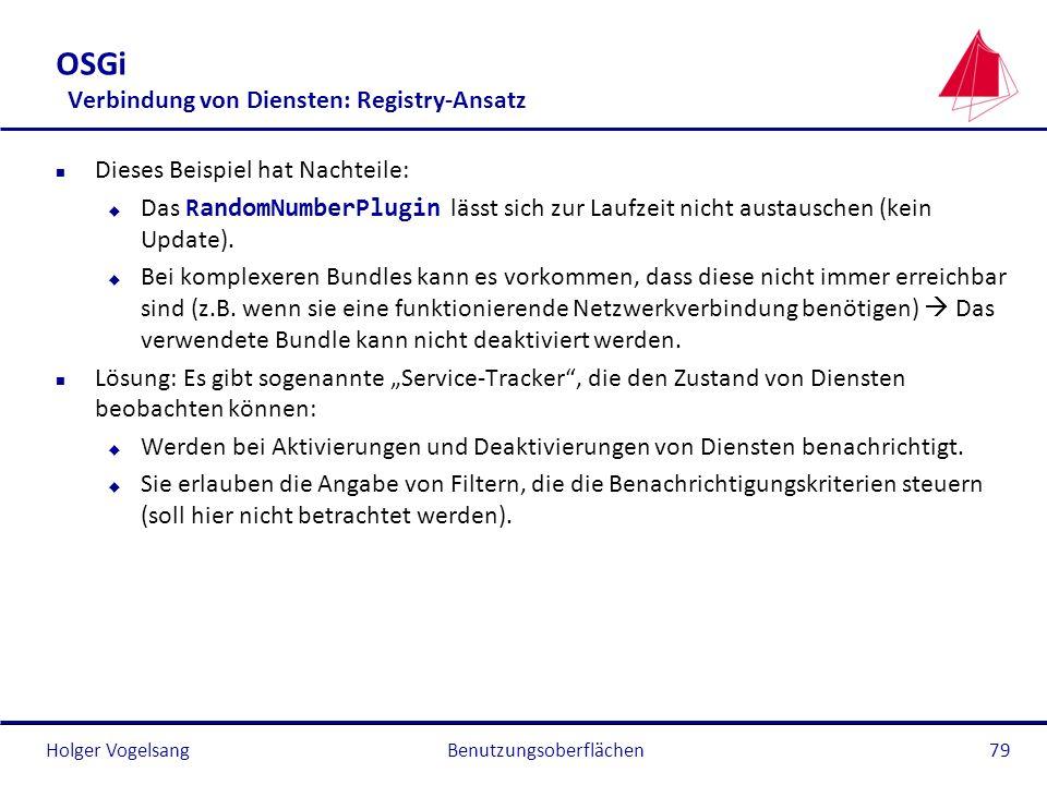 OSGi Verbindung von Diensten: Registry-Ansatz