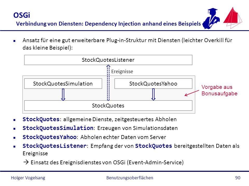 OSGi Verbindung von Diensten: Dependency Injection anhand eines Beispiels