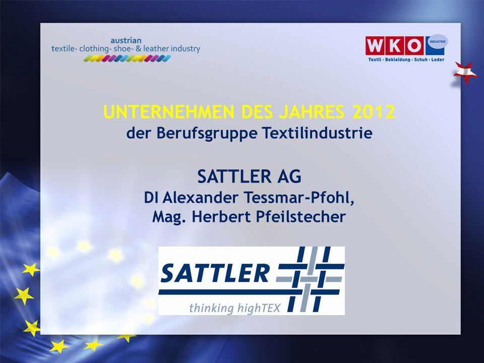 UNTERNEHMEN DES JAHRES 2012 SATTLER AG