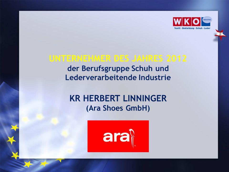 UNTERNEHMER DES JAHRES 2012 KR HERBERT LINNINGER