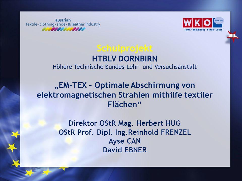 Direktor OStR Mag. Herbert HUG OStR Prof. Dipl. Ing.Reinhold FRENZEL