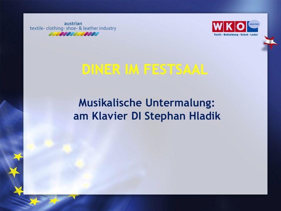 Musikalische Untermalung: am Klavier DI Stephan Hladik