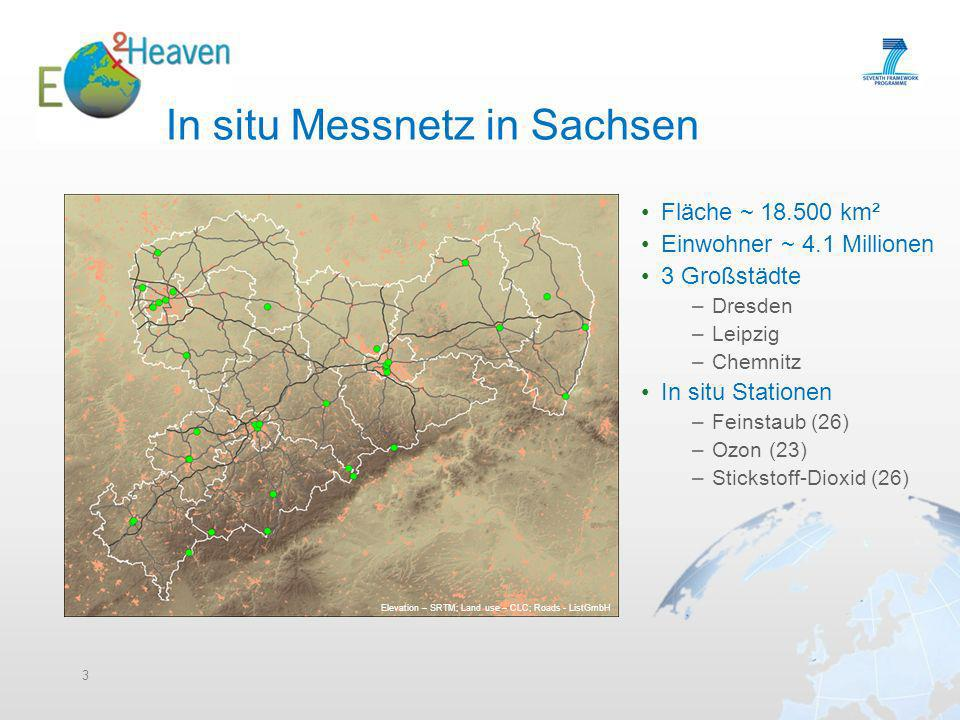 In situ Messnetz in Sachsen