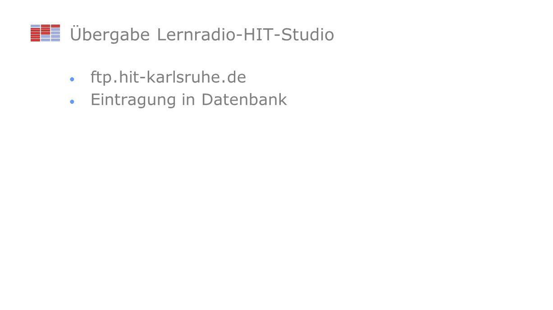 Übergabe Lernradio-HIT-Studio